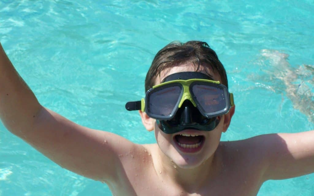 Boy finds diving fun and exciting