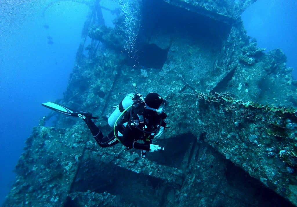 Wreck diving requires skills and responsibility.