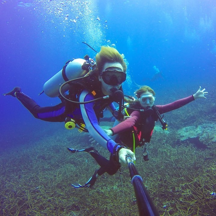 diving with a dive buddy