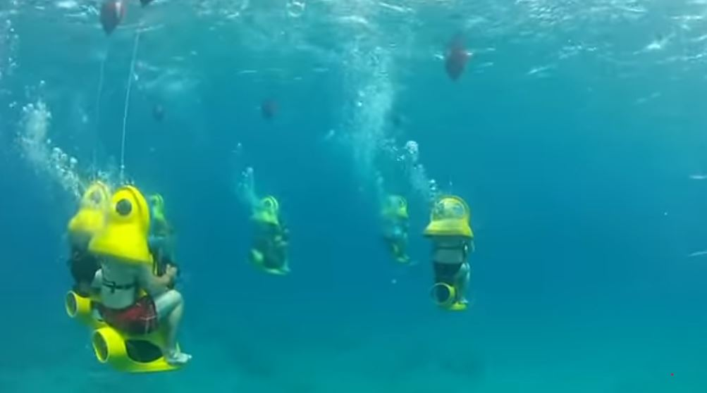 going on a submarine scooter